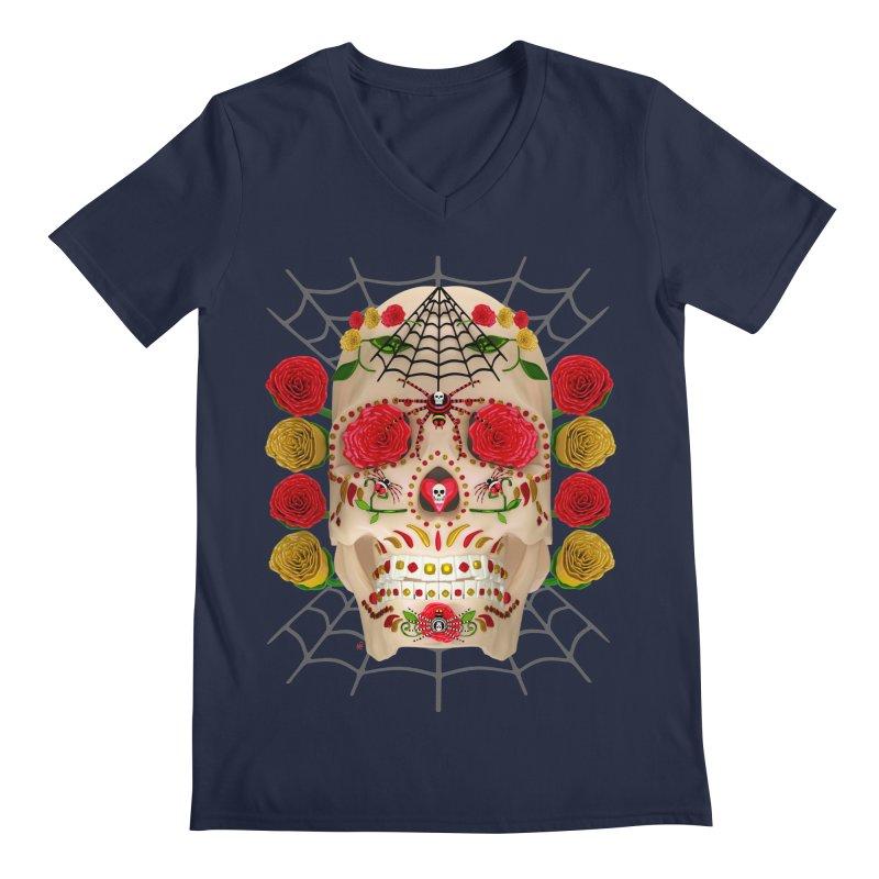 Dia De Los Muertos - Family Men's Regular V-Neck by Armando Padilla Artist Shop