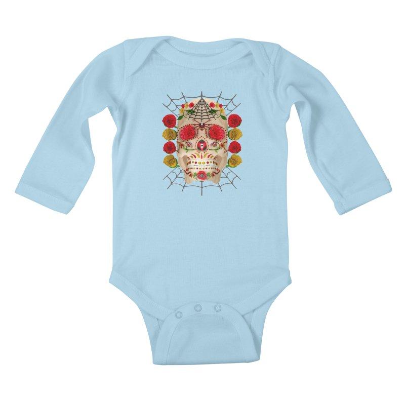 Dia De Los Muertos - Family Kids Baby Longsleeve Bodysuit by Armando Padilla Artist Shop