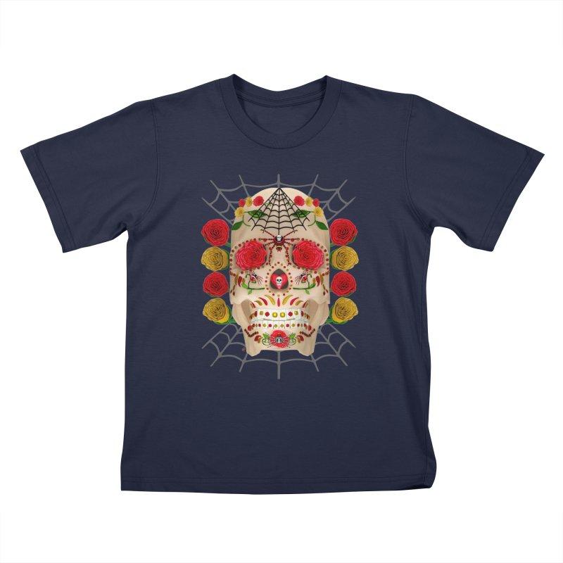 Dia De Los Muertos - Family Kids T-Shirt by Armando Padilla Artist Shop
