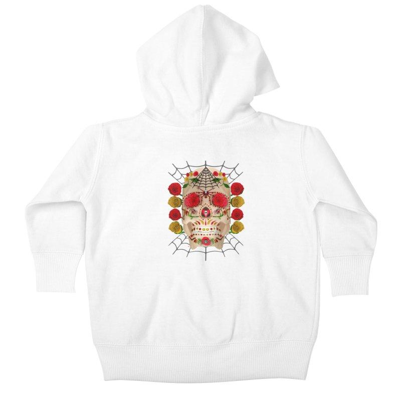 Dia De Los Muertos - Family Kids Baby Zip-Up Hoody by Armando Padilla Artist Shop
