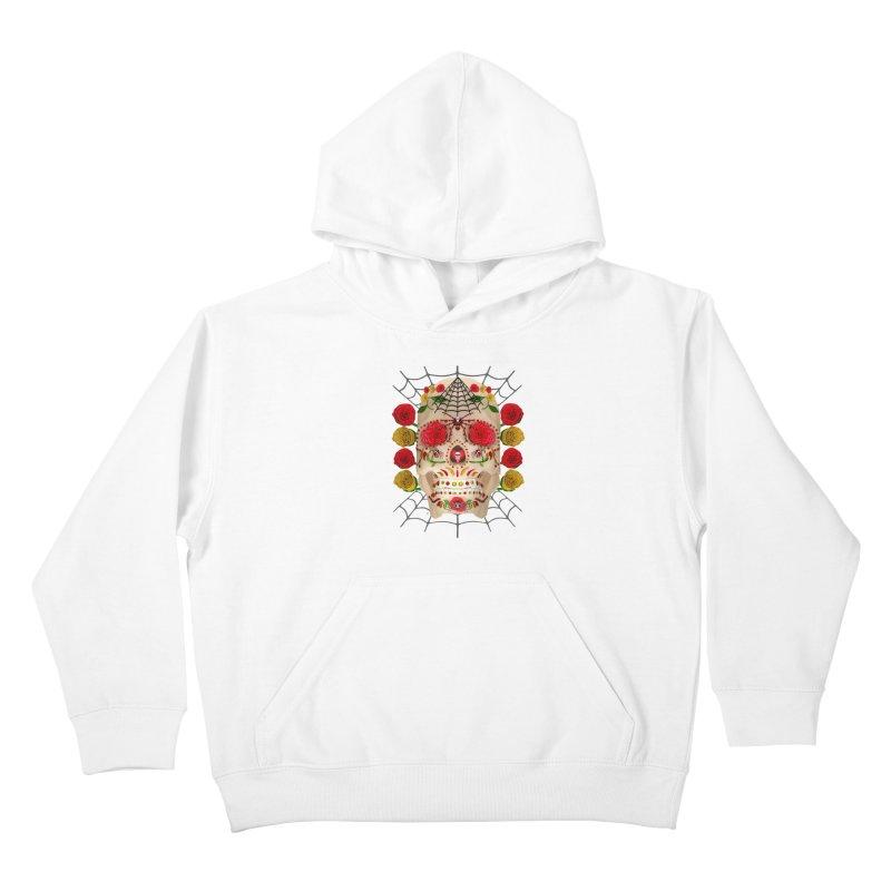 Dia De Los Muertos - Family Kids Pullover Hoody by Armando Padilla Artist Shop