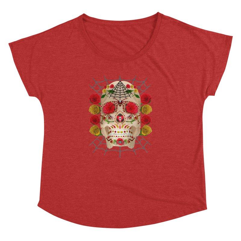 Dia De Los Muertos - Family Women's Dolman Scoop Neck by Armando Padilla Artist Shop