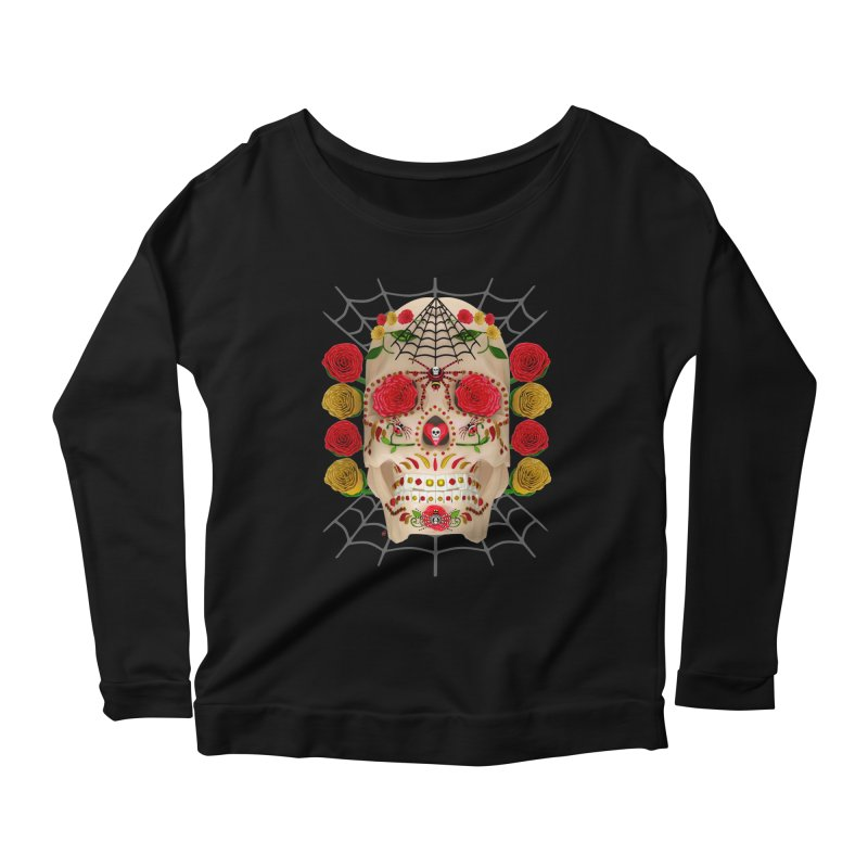 Dia De Los Muertos - Family Women's Scoop Neck Longsleeve T-Shirt by Armando Padilla Artist Shop
