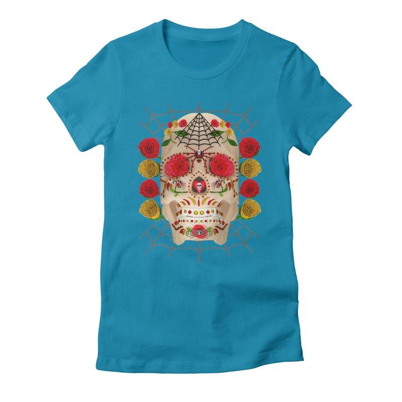 Dia De Los Muertos - Family Women's Fitted T-Shirt by Armando Padilla Artist Shop