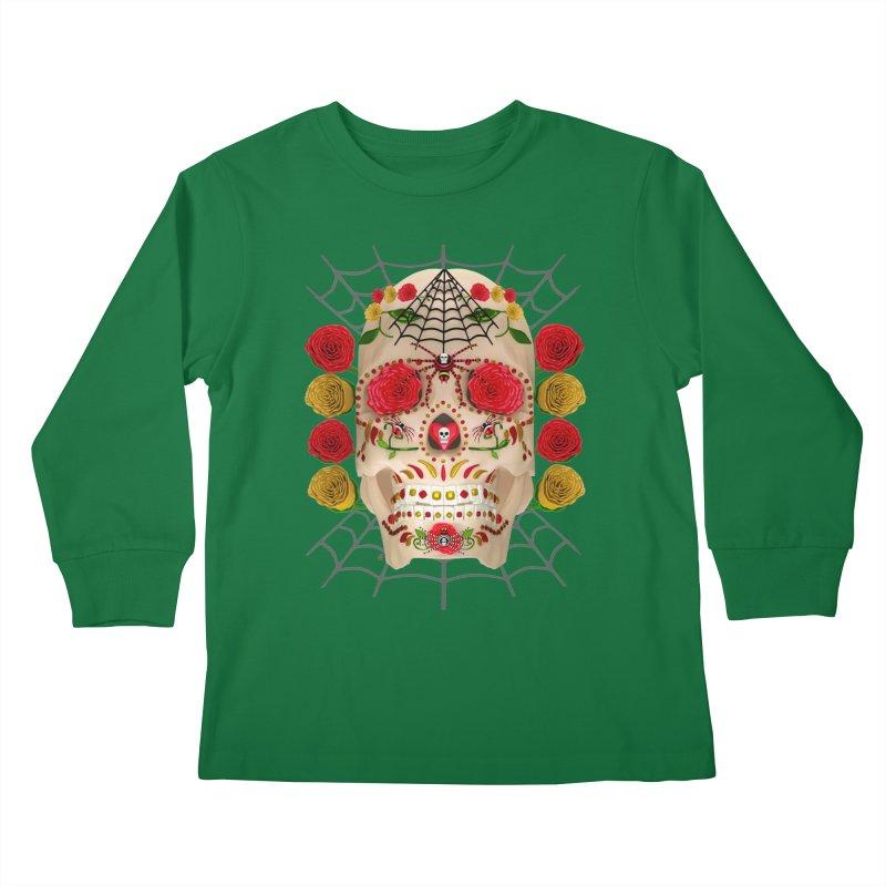 Dia De Los Muertos - Family Kids Longsleeve T-Shirt by Armando Padilla Artist Shop