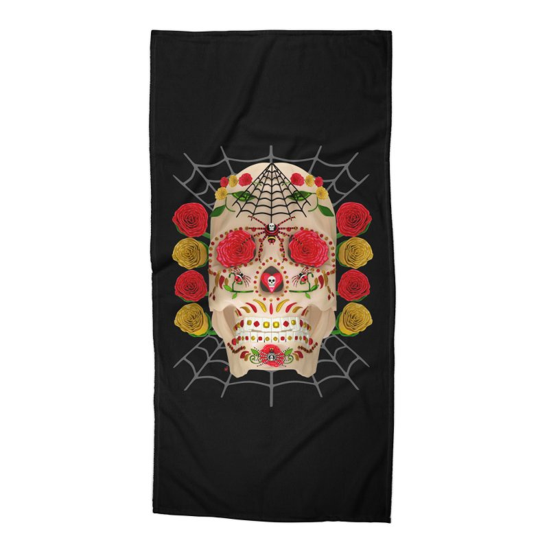 Dia De Los Muertos - Family Accessories Beach Towel by Armando Padilla Artist Shop