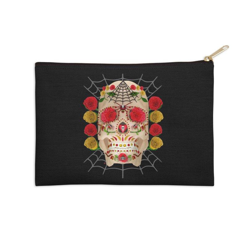 Dia De Los Muertos - Family Accessories Zip Pouch by Armando Padilla Artist Shop