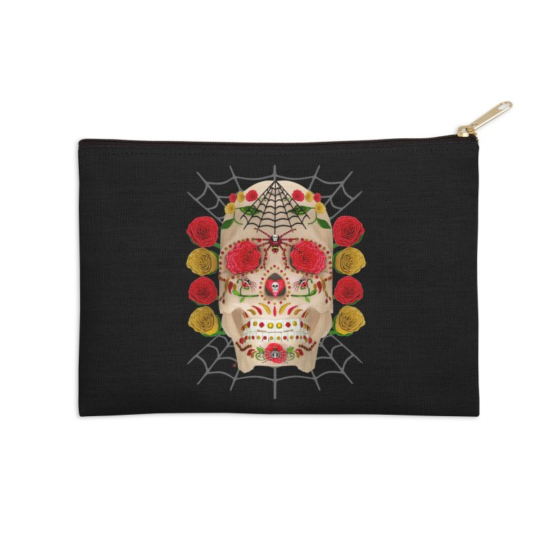 Dia De Los Muertos - Family Accessories Zip Pouch by Armando Padilla Artist Shop