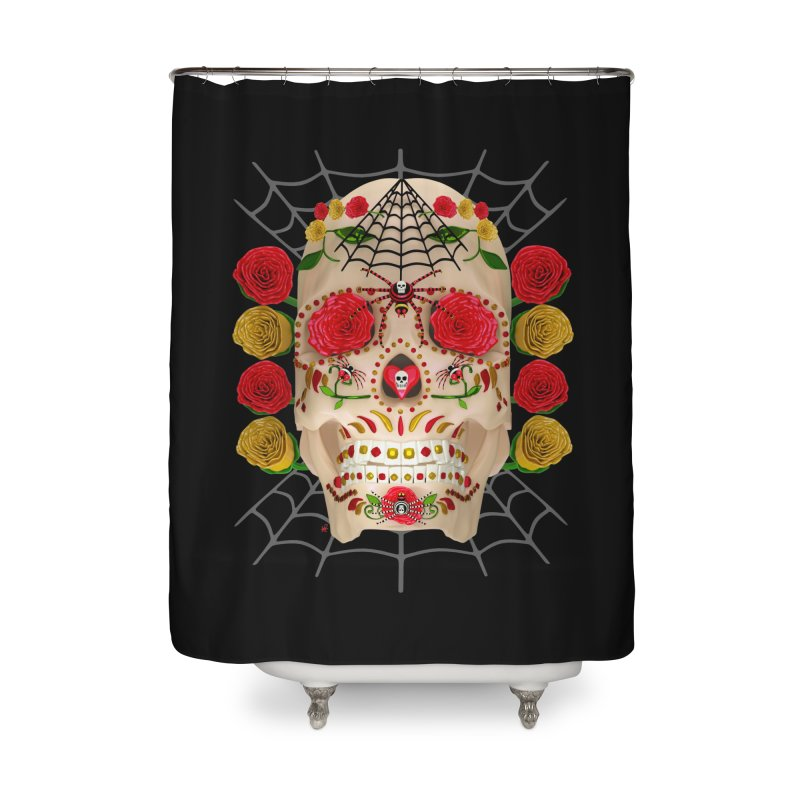 Dia De Los Muertos - Family Home Shower Curtain by Armando Padilla Artist Shop
