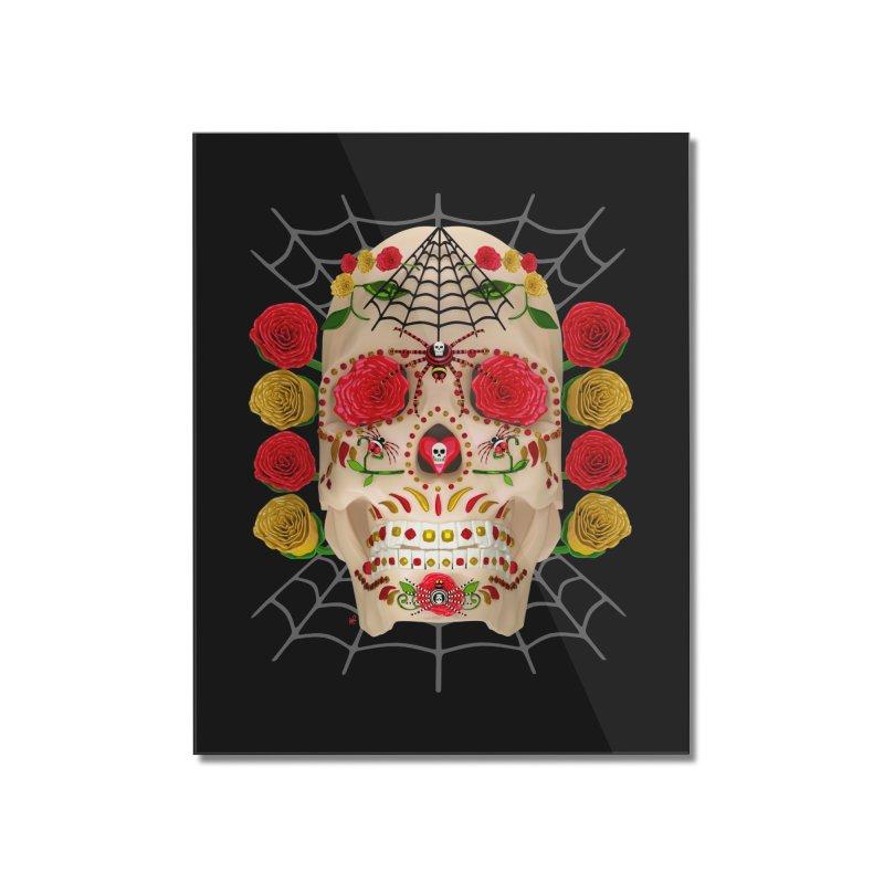 Dia De Los Muertos - Family Home Mounted Acrylic Print by Armando Padilla Artist Shop