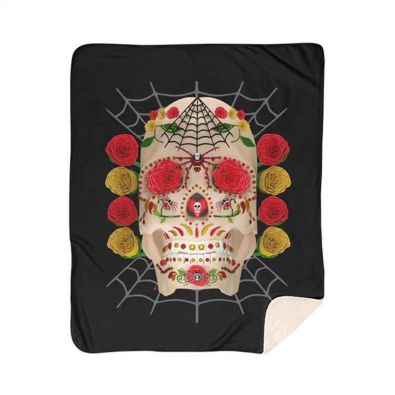 Dia De Los Muertos - Family Home Sherpa Blanket Blanket by Armando Padilla Artist Shop