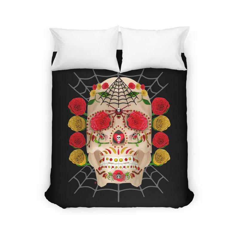 Dia De Los Muertos - Family Home Duvet by Armando Padilla Artist Shop