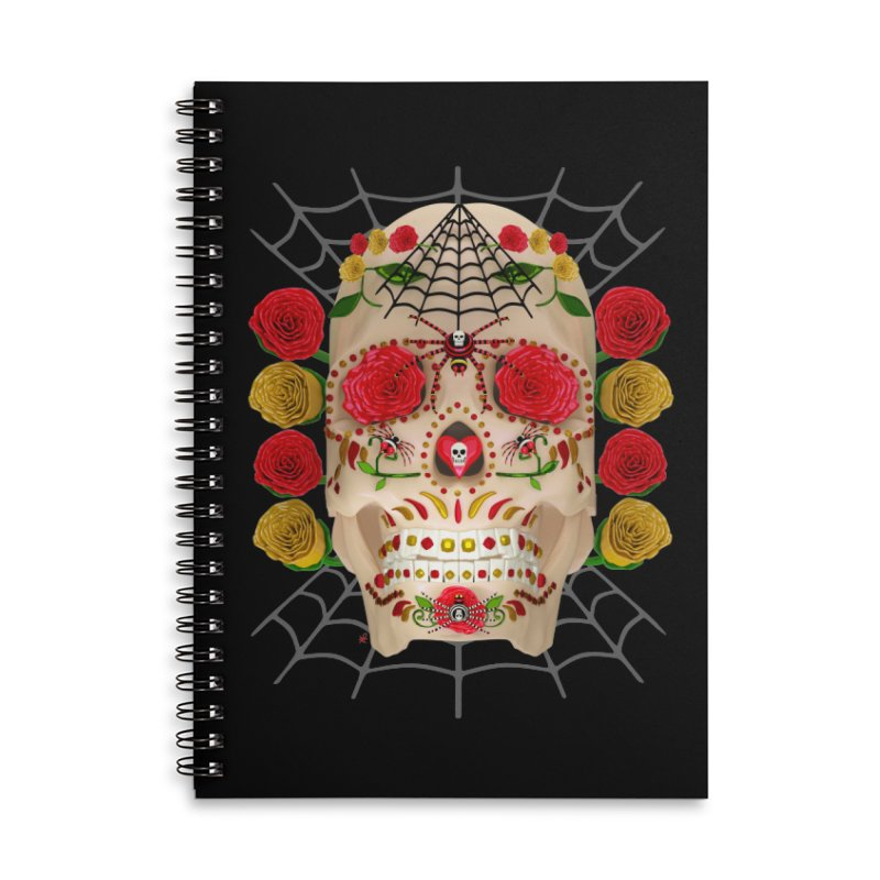 Dia De Los Muertos - Family Accessories Lined Spiral Notebook by Armando Padilla Artist Shop