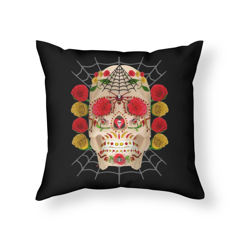 Dia De Los Muertos - Family Home Throw Pillow by Armando Padilla Artist Shop
