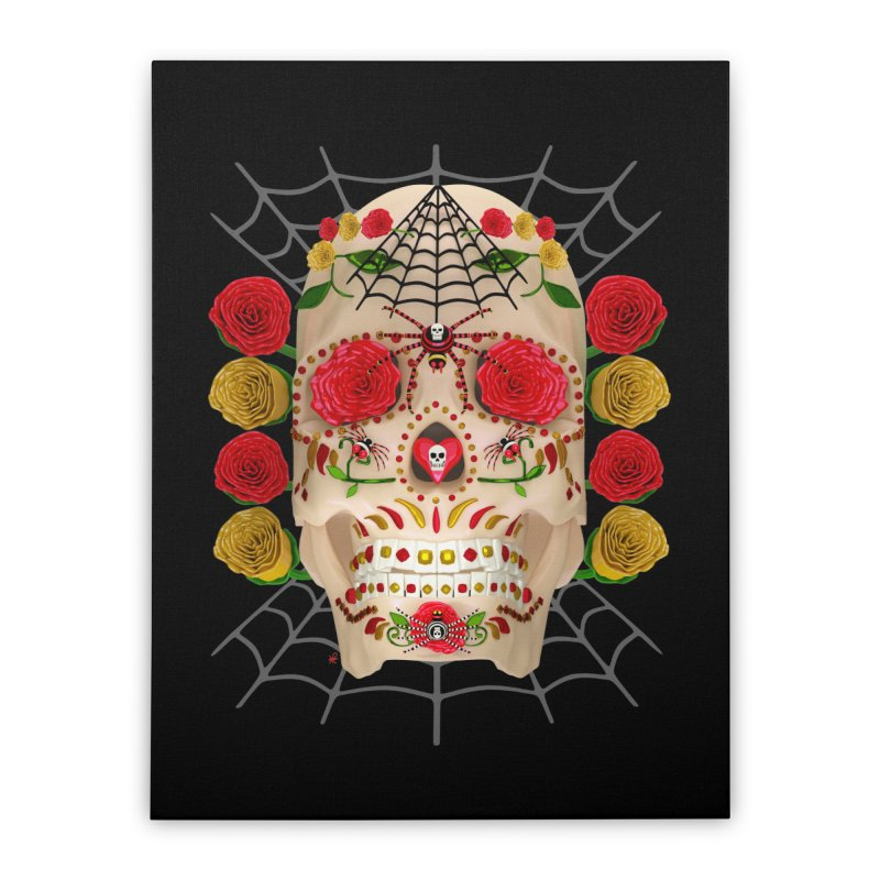 Dia De Los Muertos - Family Home Stretched Canvas by Armando Padilla Artist Shop