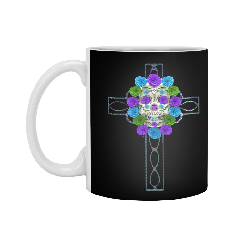 Dia de Los Muertos - Cross My Heart Accessories Mug by Armando Padilla Artist Shop