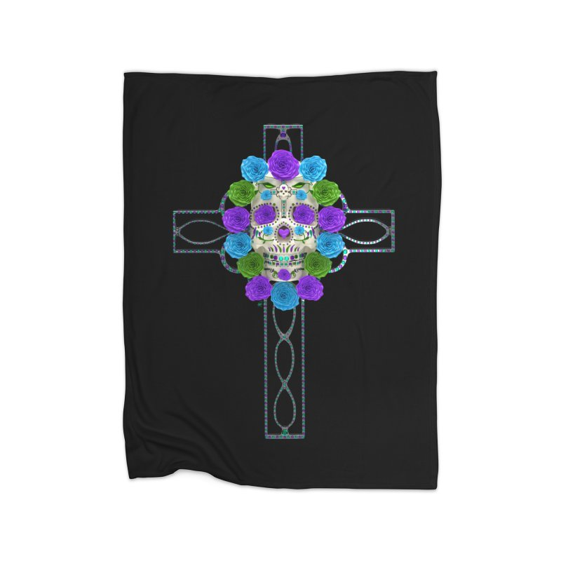 Dia de Los Muertos - Cross My Heart Home Blanket by Armando Padilla Artist Shop