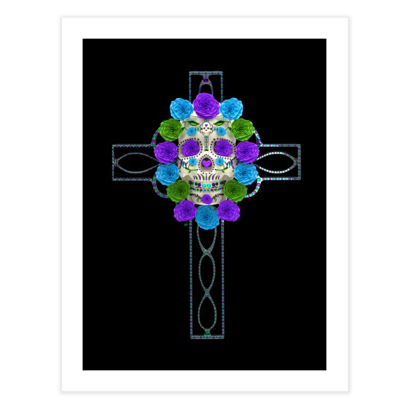 Dia de Los Muertos - Cross My Heart Home Fine Art Print by Armando Padilla Artist Shop