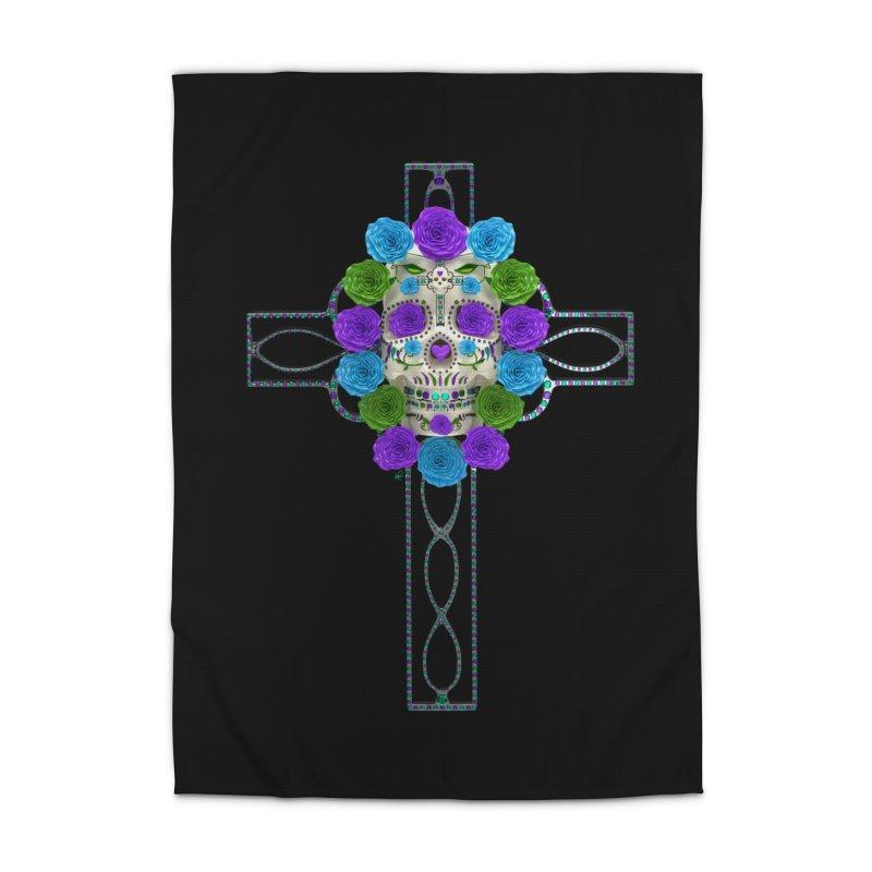 Dia de Los Muertos - Cross My Heart Home Rug by Armando Padilla Artist Shop