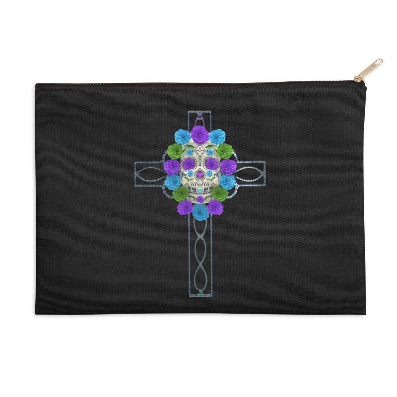 Dia de Los Muertos - Cross My Heart Accessories Zip Pouch by Armando Padilla Artist Shop