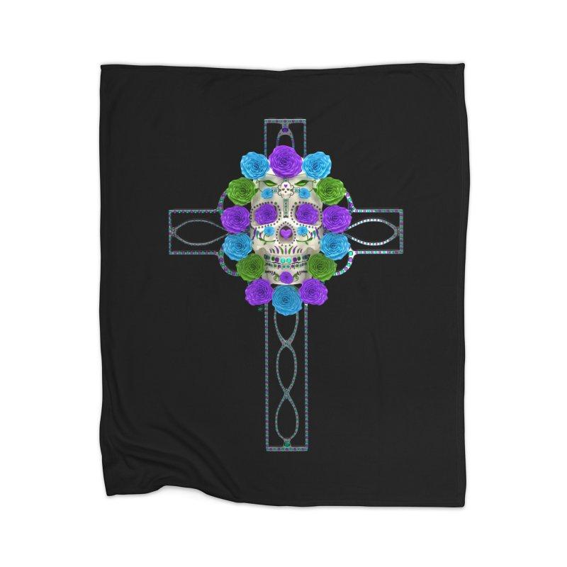 Dia de Los Muertos - Cross My Heart Home Blanket by Armando Padilla Artist Shop