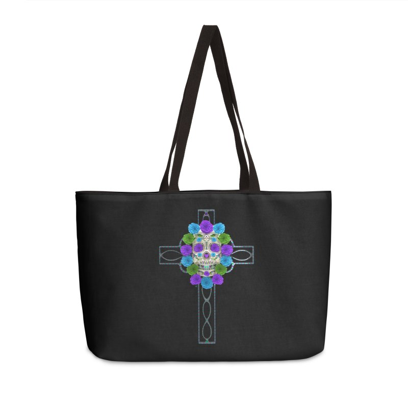 Dia de Los Muertos - Cross My Heart Accessories Weekender Bag Bag by Armando Padilla Artist Shop