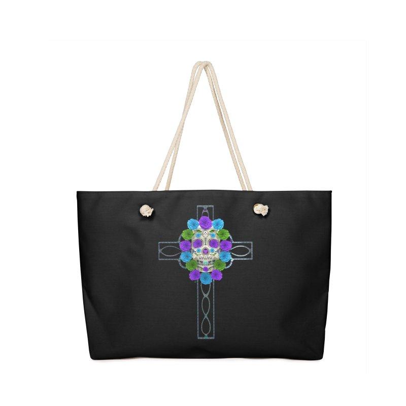 Dia de Los Muertos - Cross My Heart Accessories Bag by Armando Padilla Artist Shop