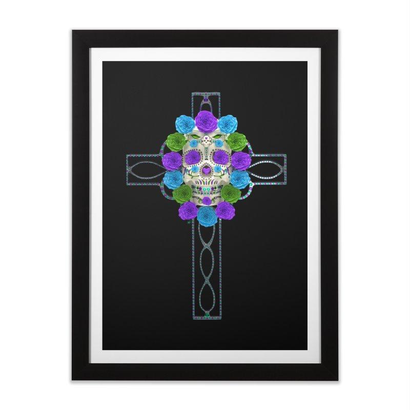 Dia de Los Muertos - Cross My Heart Home Framed Fine Art Print by Armando Padilla Artist Shop