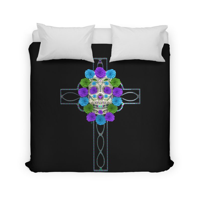 Dia de Los Muertos - Cross My Heart Home Duvet by Armando Padilla Artist Shop