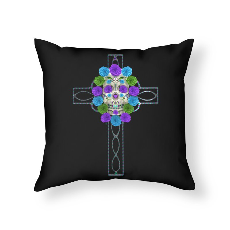 Dia de Los Muertos - Cross My Heart Home Throw Pillow by Armando Padilla Artist Shop