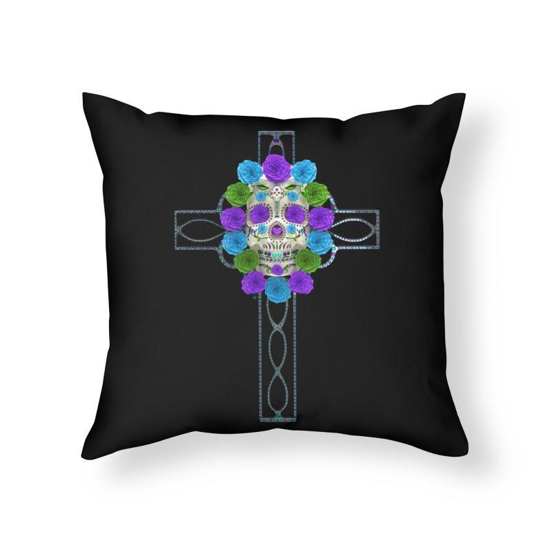 Dia de Los Muertos - Cross My Heart Home Throw Pillow by Armando Padilla Artist Shop