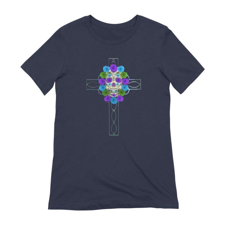 Dia de Los Muertos - Cross My Heart Women's Extra Soft T-Shirt by Armando Padilla Artist Shop