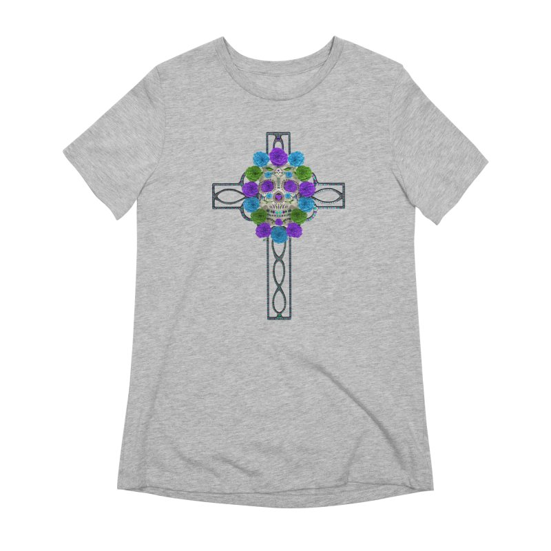 Dia de Los Muertos - Cross My Heart Women's Extra Soft T-Shirt by Armando Padilla Artist Shop