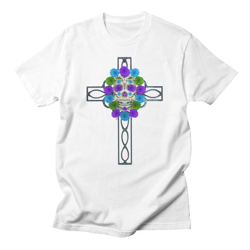 Dia de Los Muertos - Cross My Heart Men's T-Shirt by Armando Padilla Artist Shop