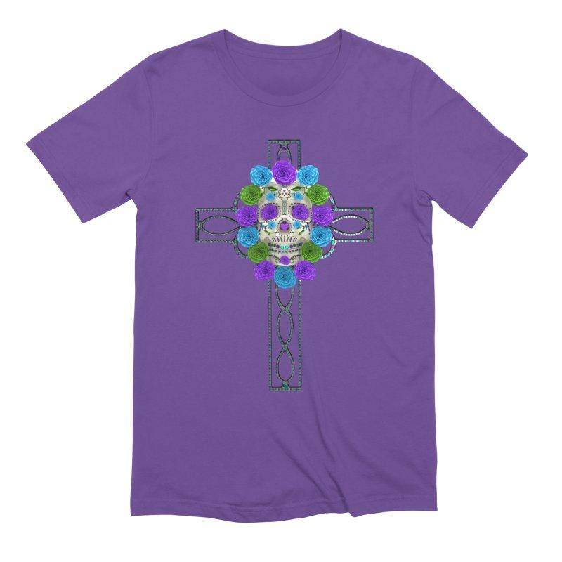 Dia de Los Muertos - Cross My Heart Men's Extra Soft T-Shirt by Armando Padilla Artist Shop