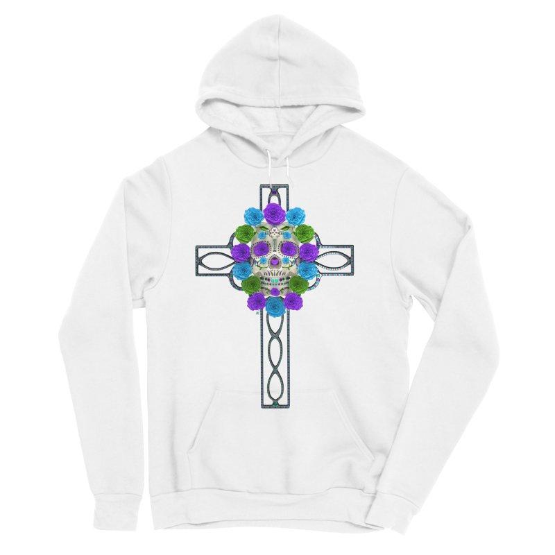 Dia de Los Muertos - Cross My Heart Women's Pullover Hoody by Armando Padilla Artist Shop