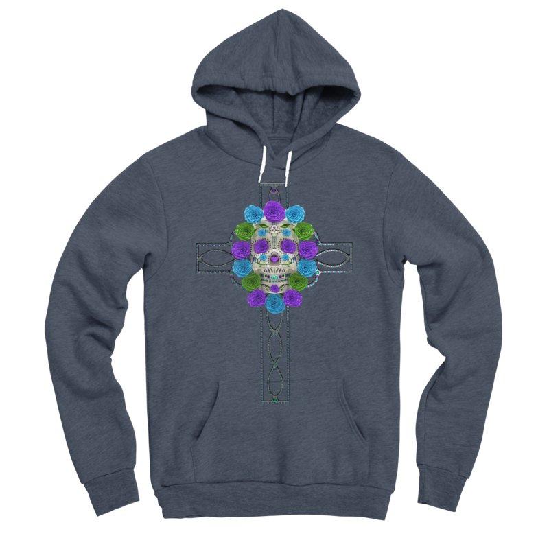 Dia de Los Muertos - Cross My Heart Men's Sponge Fleece Pullover Hoody by Armando Padilla Artist Shop