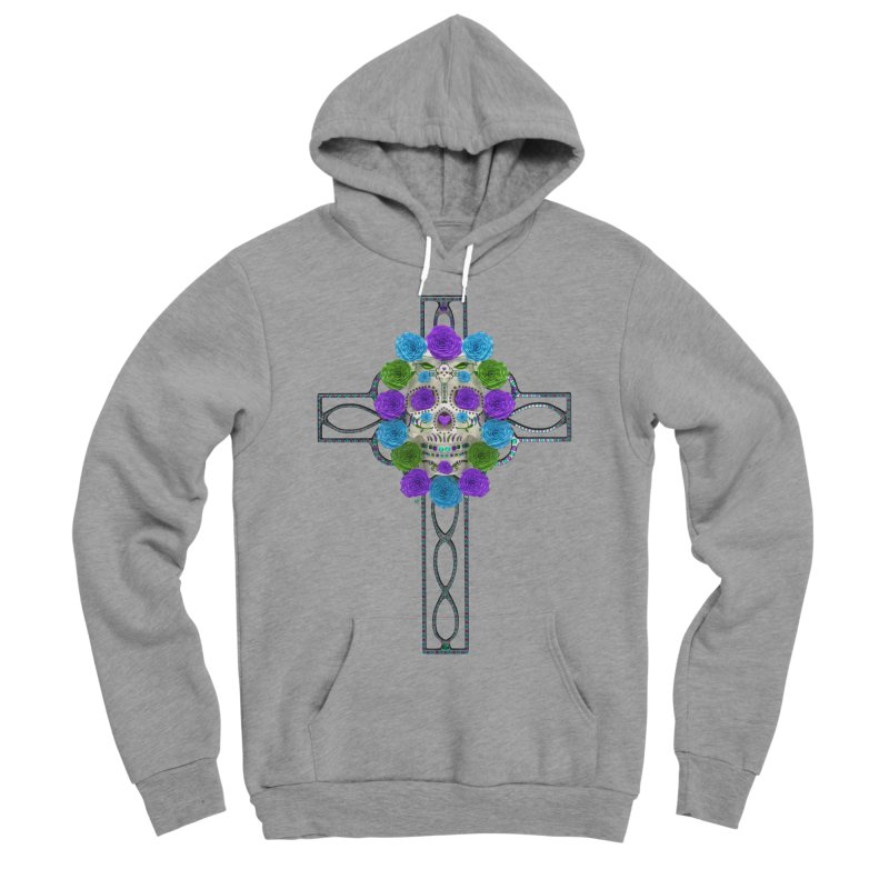 Dia de Los Muertos - Cross My Heart Women's Sponge Fleece Pullover Hoody by Armando Padilla Artist Shop