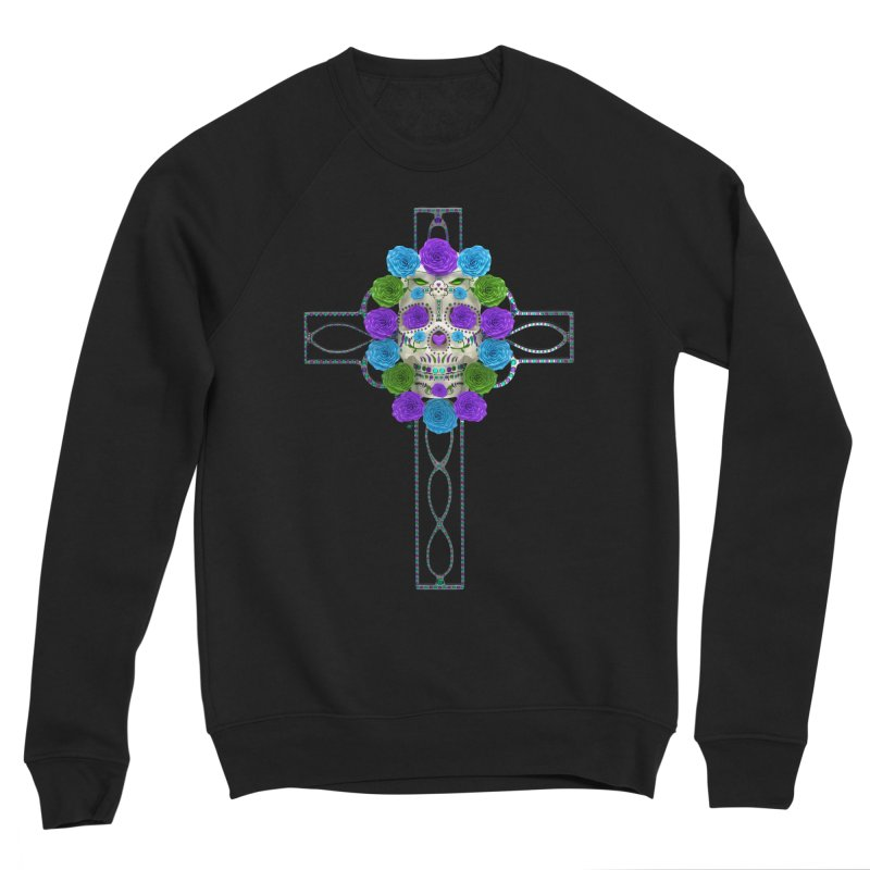 Dia de Los Muertos - Cross My Heart Women's Sponge Fleece Sweatshirt by Armando Padilla Artist Shop