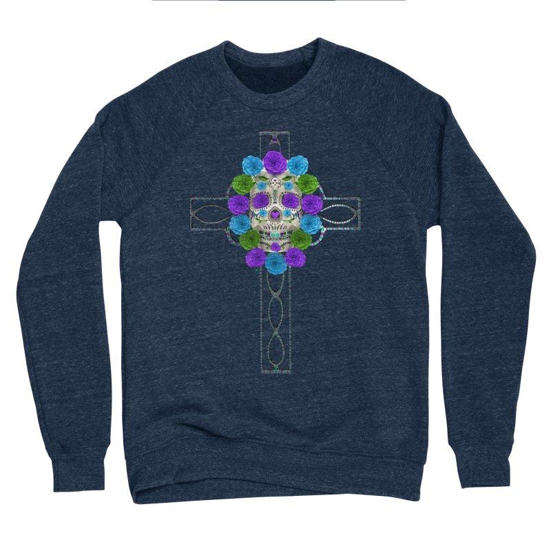 Dia de Los Muertos - Cross My Heart Men's Sponge Fleece Sweatshirt by Armando Padilla Artist Shop