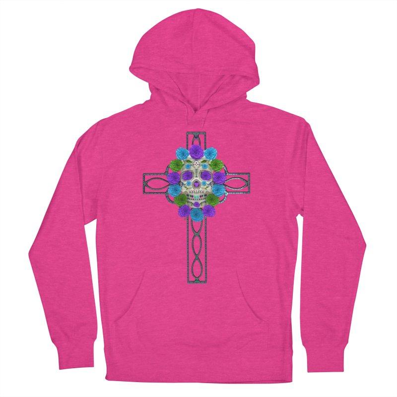 Dia de Los Muertos - Cross My Heart Women's French Terry Pullover Hoody by Armando Padilla Artist Shop