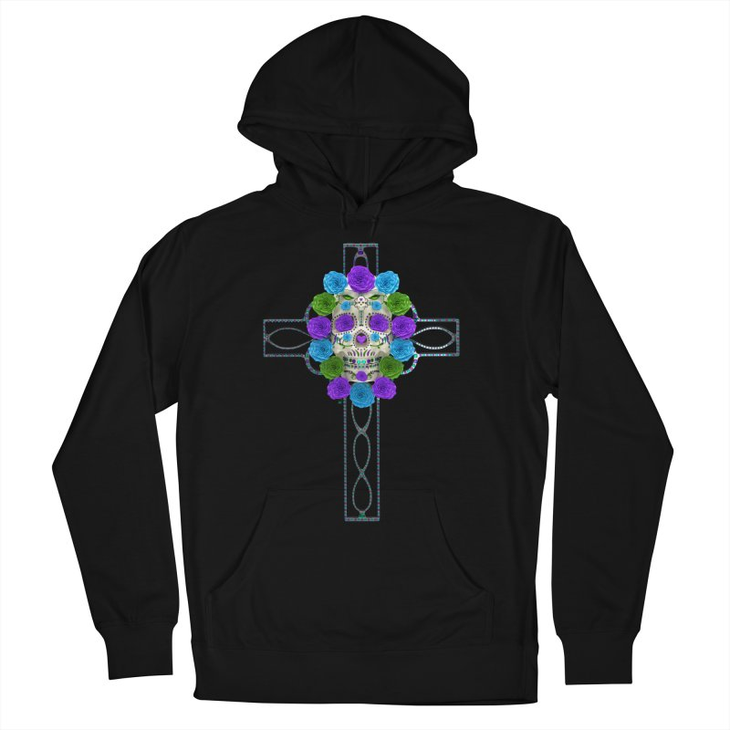 Dia de Los Muertos - Cross My Heart Women's French Terry Pullover Hoody by Armando Padilla Artist Shop