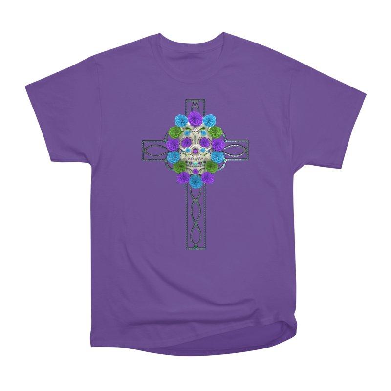 Dia de Los Muertos - Cross My Heart Women's Heavyweight Unisex T-Shirt by Armando Padilla Artist Shop
