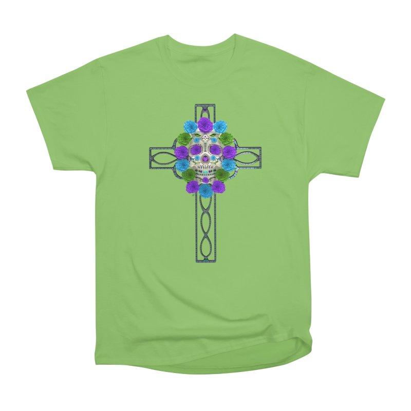 Dia de Los Muertos - Cross My Heart Men's Heavyweight T-Shirt by Armando Padilla Artist Shop