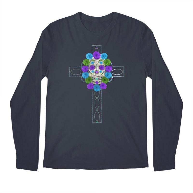 Dia de Los Muertos - Cross My Heart Men's Regular Longsleeve T-Shirt by Armando Padilla Artist Shop