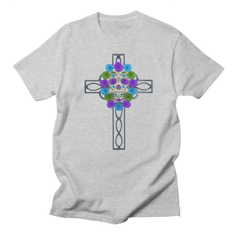 Dia de Los Muertos - Cross My Heart Women's Regular Unisex T-Shirt by Armando Padilla Artist Shop
