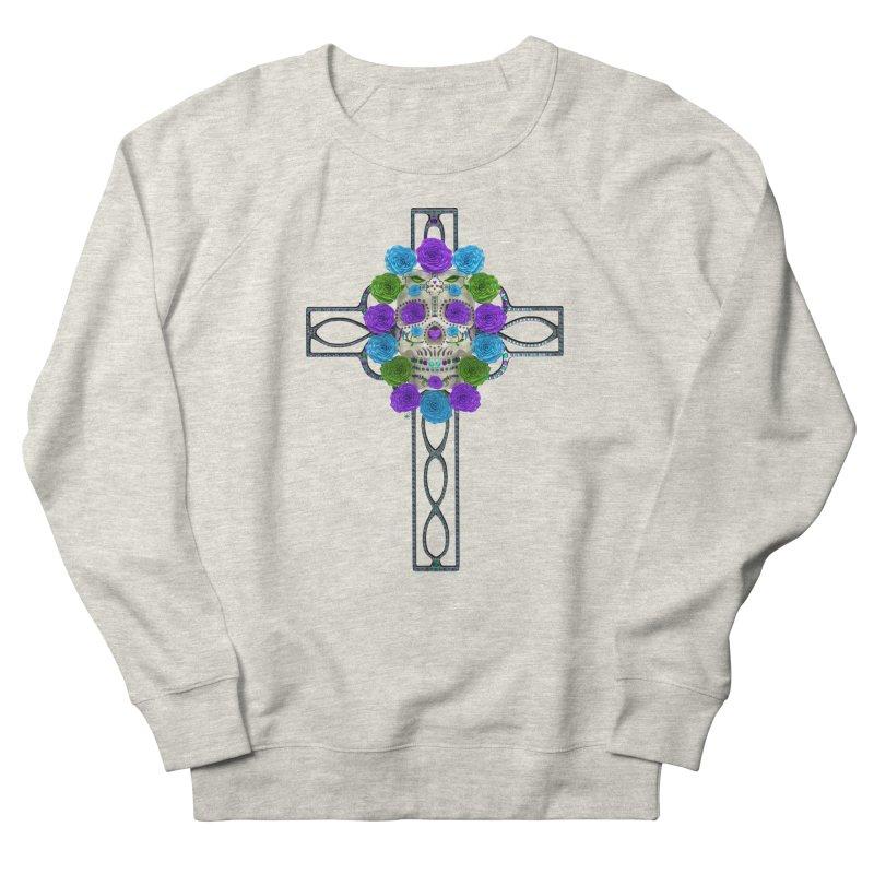 Dia de Los Muertos - Cross My Heart Women's French Terry Sweatshirt by Armando Padilla Artist Shop