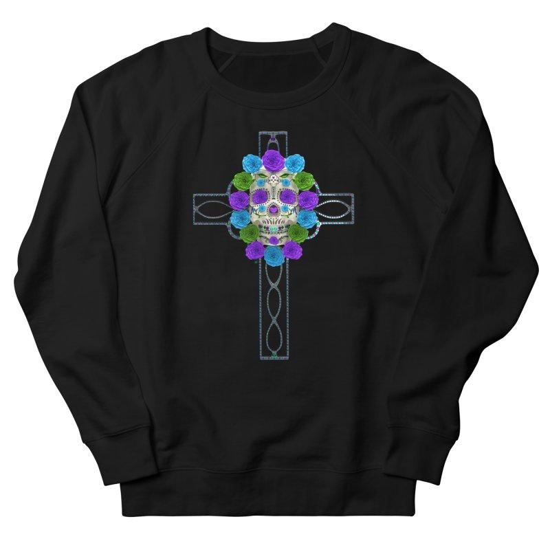 Dia de Los Muertos - Cross My Heart Men's French Terry Sweatshirt by Armando Padilla Artist Shop