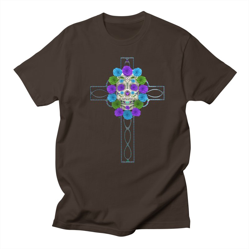 Dia de Los Muertos - Cross My Heart Men's Regular T-Shirt by Armando Padilla Artist Shop