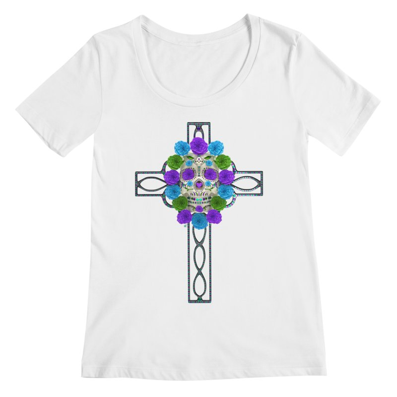 Dia de Los Muertos - Cross My Heart Women's Regular Scoop Neck by Armando Padilla Artist Shop
